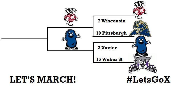 2 Xavier vs 7 Wisconsin Sunday for spot in Sweet 16!